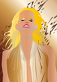 Sexy Woman Portrait Blonde Royalty Free Stock Images - Image: 9292419