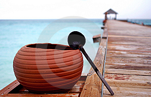 Pot On An Exotic Resort. Royalty Free Stock Images - Image: 9293559