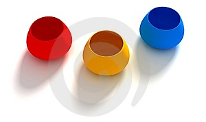 RGB Cups. Stock Images - Image: 9294124