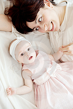 Mother With Newborn Daughter Stock Images - Image: 9296714
