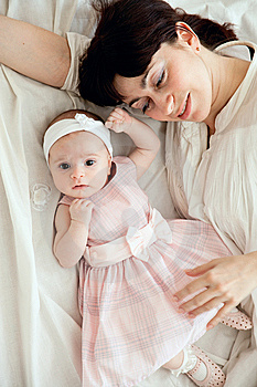 Mother With Newborn Daughter Stock Photo - Image: 9296970