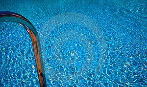 Pool With Bathing Ladder Royalty Free Stock Photography - Image: 9298407