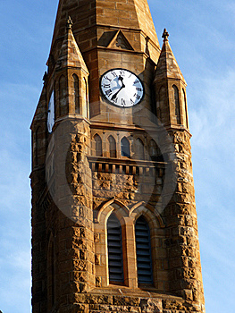 Church Clock Tower Royalty Free Stock Photo - Image: 9298785