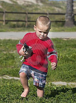 Boy With Scraped Knee Royalty Free Stock Image - Image: 9298846