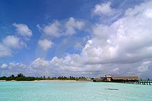 Exotic Resort In Maldives Stock Images - Image: 9298904