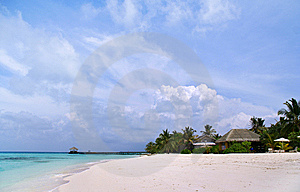 Exotic Resort In Maldives Stock Image - Image: 9298911