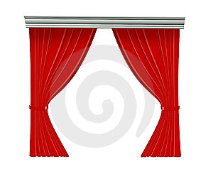 Red Curtain Stock Images - Image: 9299944