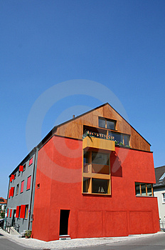 Red House Portrait Royalty Free Stock Photos - Image: 936108