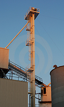 Industrial Sunset Light 1 Royalty Free Stock Images - Image: 938639