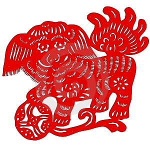Chinese Zodiac Of Unicorn Stock Images - Image: 9303634