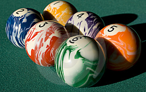 Billiard Spheres Stock Image - Image: 9305501