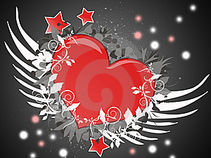 Flying Heart Stock Images - Image: 9306174