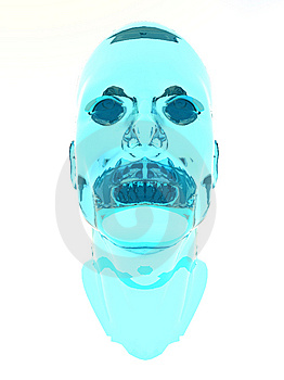 Blue Glass Head Royalty Free Stock Photo - Image: 9311715