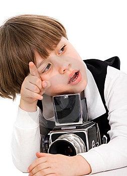 Little Photographer Royalty Free Stock Photo - Image: 9312645