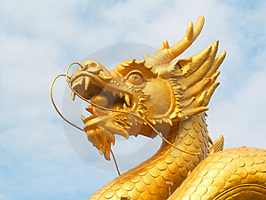 Golden Dragon Head Royalty Free Stock Images - Image: 9313139