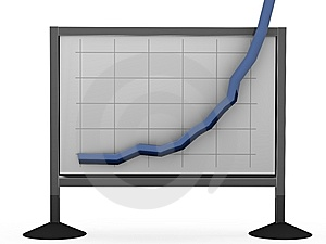 Blue Rising Business Chart Stock Photos - Image: 9313673
