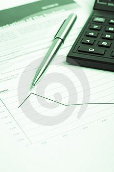 Pencil And Calculator Stock Images - Image: 9314094