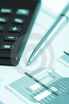Pencil And Calculator Stock Photo - Image: 9314100