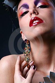 Beautiful White Woman In Diva Image Stock Image - Image: 9317251