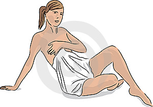 Woman After The Sauna Royalty Free Stock Photos - Image: 9317628