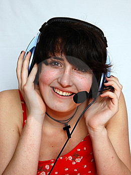 Smiling Young DJ Girl Stock Photos - Image: 9319493
