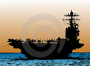 Vector Battle Ship Royalty Free Stock Image - Image: 9320106