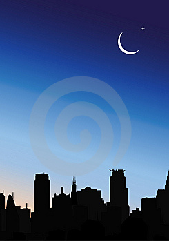 Modern City At Night Stock Photography - Image: 9320292