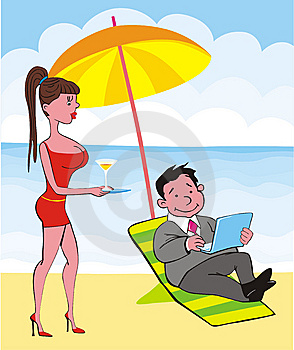 Businessman On Beach Royalty Free Stock Photography - Image: 9320697