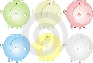 Pigs Set Royalty Free Stock Images - Image: 9320789
