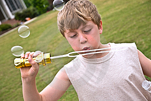 Boy With Bubbles II Royalty Free Stock Photos - Image: 9320898