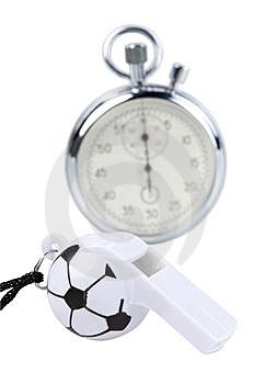 Whistle And Stopwatch Stock Photos - Image: 9323233