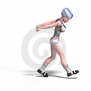 Female Scifi Heroine Pulling Something Royalty Free Stock Image - Image: 9324716