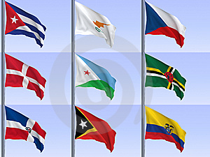 Flags Vol9 Stock Images - Image: 9326014