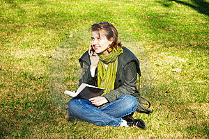 A Student In The Park Royalty Free Stock Photography - Image: 9326907