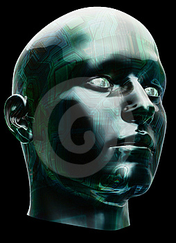 Futuristic Cyborg Head Stock Photo - Image: 9326950