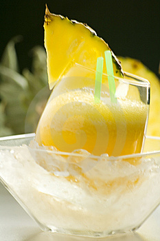 Refreshing Pineapple And Orange Milkshake Royalty Free Stock Photography - Image: 9330177