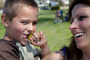 Cute Boy And His Mother Royalty Free Stock Images - Image: 9330809