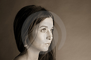 Beautiful Woman In Suspense Stock Photography - Image: 9331742