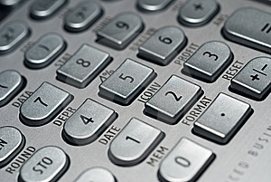 Advanced Financial Calculator Royalty Free Stock Photography - Image: 9331957