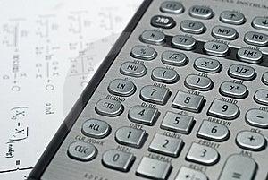 Pieniężny Postępowy Kalkulator Obraz Stock - Obraz: 9331981