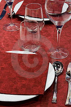 Red Table Setting Stock Images - Image: 9335284