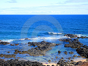 Rocky Coastline On The Road To Hana, Hawaii Royalty Free Stock Photos - Image: 9335388