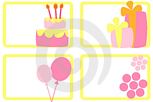 Happy Birthday Tags Royalty Free Stock Images - Image: 9336889