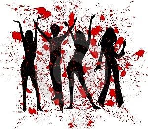 Retro People Spot Design Stock Image - Image: 9337061