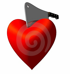 Heart Chop Stock Image - Image: 9340701