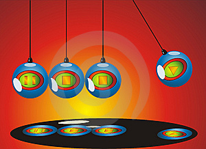 Newton Pendulum Mobile Stock Photography - Image: 9340722