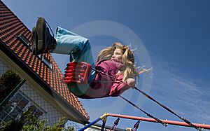 Girl On Swing Stock Photos - Image: 9340773