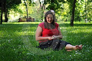 Bohemia Woman In A Park Stock Images - Image: 9341254