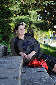 Bohemia Woman In A Park Royalty Free Stock Photo - Image: 9341695