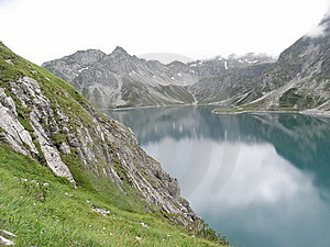 Luenersee Mountain Lake 1 Stock Image - Image: 9342831